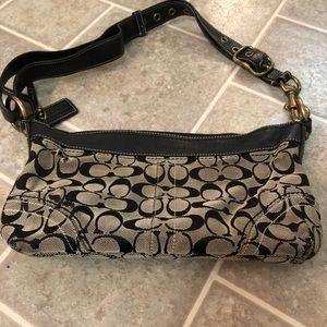 Black and Gray COACH shoulder bag